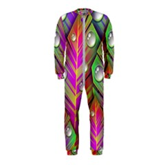 Abstract Background Colorful Leaves Onepiece Jumpsuit (kids)