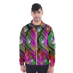 Abstract Background Colorful Leaves Wind Breaker (men)