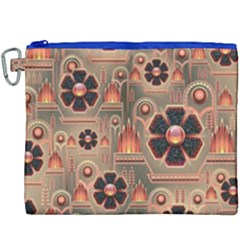 Background Floral Flower Stylised Canvas Cosmetic Bag (xxxl)