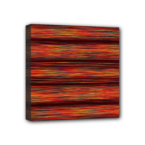 Colorful Abstract Background Strands Mini Canvas 4  X 4