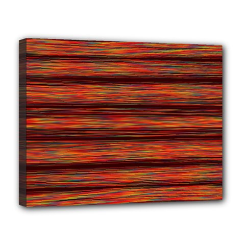 Colorful Abstract Background Strands Canvas 14  X 11