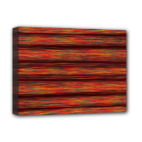 Colorful Abstract Background Strands Deluxe Canvas 16  X 12