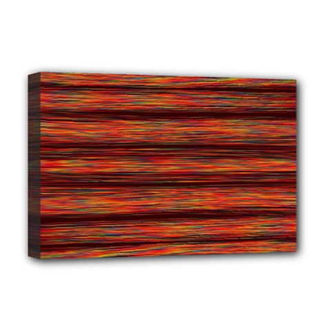 Colorful Abstract Background Strands Deluxe Canvas 18  X 12