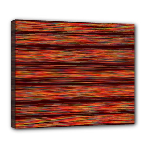 Colorful Abstract Background Strands Deluxe Canvas 24  X 20
