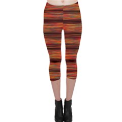 Colorful Abstract Background Strands Capri Leggings