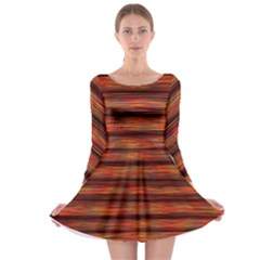 Colorful Abstract Background Strands Long Sleeve Skater Dress