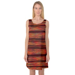 Colorful Abstract Background Strands Sleeveless Satin Nightdress