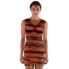 Colorful Abstract Background Strands Wrap Front Bodycon Dress