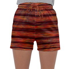 Colorful Abstract Background Strands Sleepwear Shorts