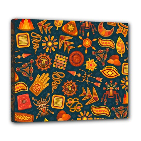 Pattern Background Ethnic Tribal Deluxe Canvas 24  X 20
