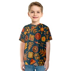 Pattern Background Ethnic Tribal Kids  Sport Mesh Tee