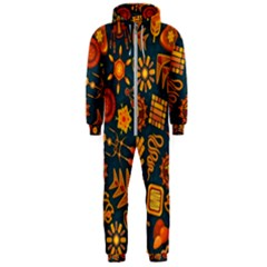 Pattern Background Ethnic Tribal Hooded Jumpsuit (men)