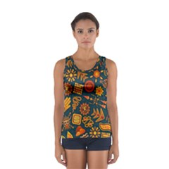 Pattern Background Ethnic Tribal Sport Tank Top