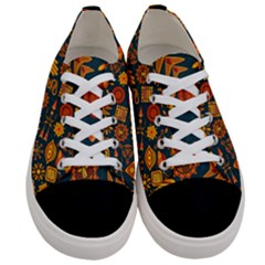 Pattern Background Ethnic Tribal Women s Low Top Canvas Sneakers