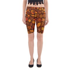 Pattern Background Ethnic Tribal Yoga Cropped Leggings