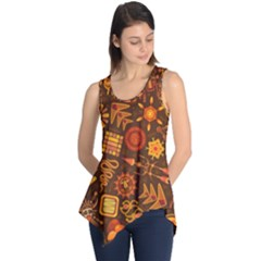 Pattern Background Ethnic Tribal Sleeveless Tunic