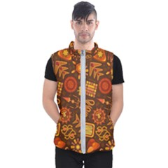 Pattern Background Ethnic Tribal Men s Puffer Vest