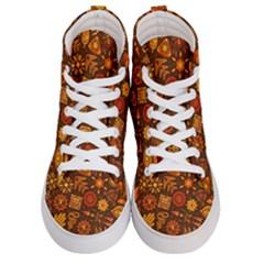 Pattern Background Ethnic Tribal Women s Hi Top Skate Sneakers