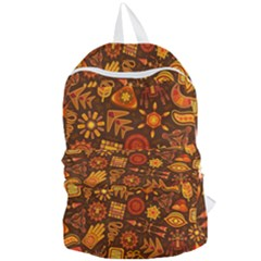 Pattern Background Ethnic Tribal Foldable Lightweight Backpack