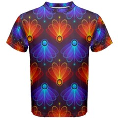 Background Colorful Abstract Men s Cotton Tee