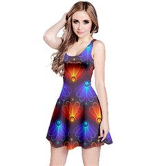 Background Colorful Abstract Reversible Sleeveless Dress