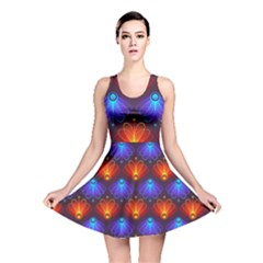 Background Colorful Abstract Reversible Skater Dress
