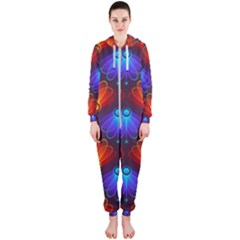 Background Colorful Abstract Hooded Jumpsuit (ladies)