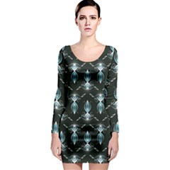Seamless Pattern Background Long Sleeve Bodycon Dress