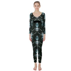 Seamless Pattern Background Long Sleeve Catsuit