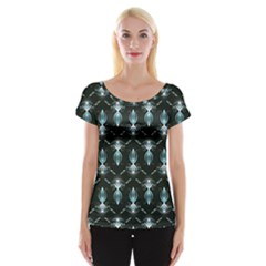 Seamless Pattern Background Cap Sleeve Tops