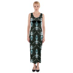 Seamless Pattern Background Fitted Maxi Dress