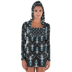 Seamless Pattern Background Long Sleeve Hooded T Shirt