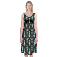 Seamless Pattern Background Midi Sleeveless Dress