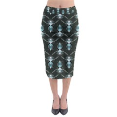 Seamless Pattern Background Midi Pencil Skirt