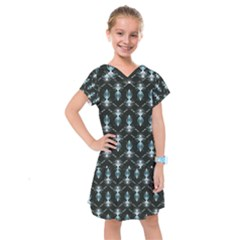 Seamless Pattern Background Kids  Drop Waist Dress
