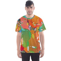 Background Colorful Abstract Men s Sports Mesh Tee