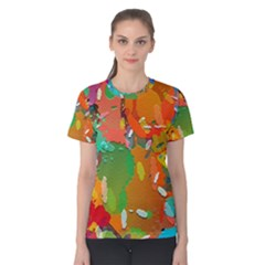 Background Colorful Abstract Women s Cotton Tee