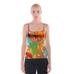 Background Colorful Abstract Spaghetti Strap Top