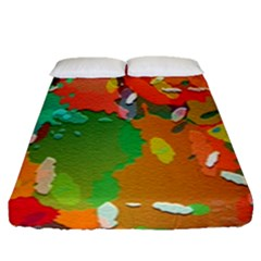 Background Colorful Abstract Fitted Sheet (queen Size)