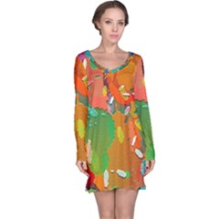 Background Colorful Abstract Long Sleeve Nightdress
