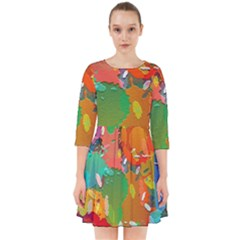 Background Colorful Abstract Smock Dress