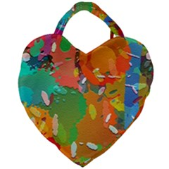 Background Colorful Abstract Giant Heart Shaped Tote