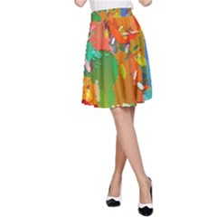 Background Colorful Abstract A Line Skirt