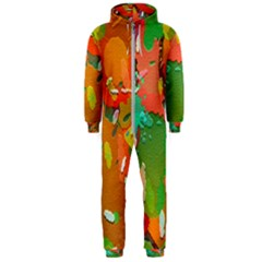 Background Colorful Abstract Hooded Jumpsuit (men)