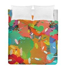 Background Colorful Abstract Duvet Cover Double Side (full/ Double Size)