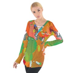 Background Colorful Abstract Tie Up Tee