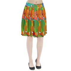 Background Colorful Abstract Pleated Skirt