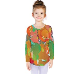 Background Colorful Abstract Kids  Long Sleeve Tee