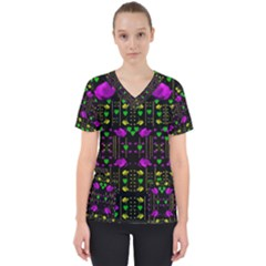Pure Roses In The Rose Garden Of Love Scrub Top
