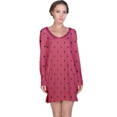 Watermelon Minimal Pattern Long Sleeve Nightdress